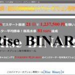 バイナリーオプション専用ツール Rise-BINARY 株式会社オーエスジェイ  中村正人