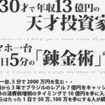 2014 錬金術 スマホ一つで年収13億円 ヘッジファンドバンキング株式会社 田中類