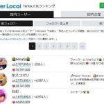 TikTok人気ランキング 株式会社ユーザーローカル 掲載申請できます・・。